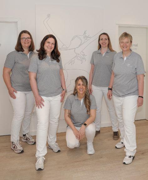 Das Team der Praxis für Physiotherapie Nicole Duisberg in Mülheim an der Ruhr